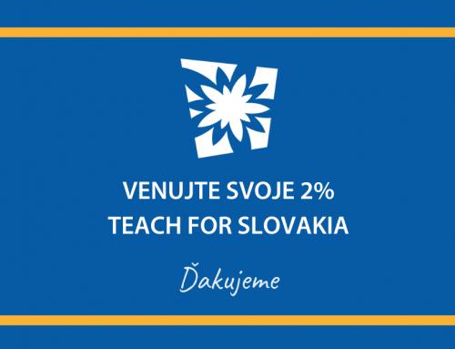 Vaše 2% pre Teach for Slovakia